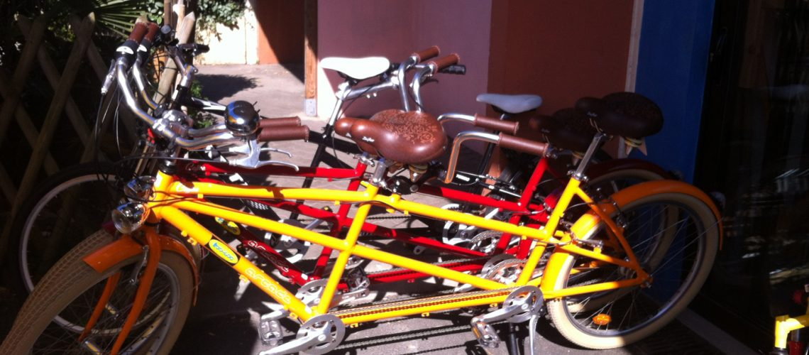 Vélo tandem en location à Capbreton & Hossegor